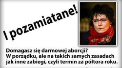 Świetna odpowiedź na postulat dostępu do darmowej aborcji w Polsce!  Co na to Kazia Szczuka? - miniaturka