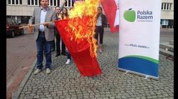 Bezprecedensowy pożar w Katowicach! Spłonął sierp i młot - miniaturka
