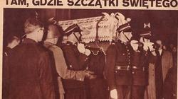 Dziś szklana trumna ze świętym Andrzejem Bobolą przejdzie ulicami Warszawy! - miniaturka
