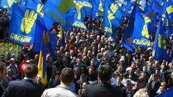 Krym zdelegalizował nacjonalistyczną partię Swoboda i jej symbolikę - miniaturka