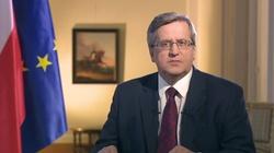 Komorowski: Polska powinna się zakopać w integracji europejskiej - miniaturka