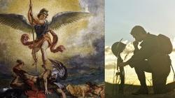 Objawienie św. Michała Archanioła. Zwycięża szatana. ,,Tutaj rozlewają się łaski'' - miniaturka