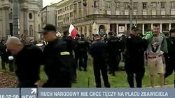 Skandal! Policja rozbiła protest przeciwko tęczy na pl. Zbawiciela!  - miniaturka