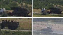 Zobacz film jak rosyjscy terroryści transportują system obrony przeciwlotniczej BUK - miniaturka