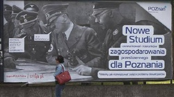 Plakat z Hitlerem i Himmlerem w Poznaniu  - miniaturka