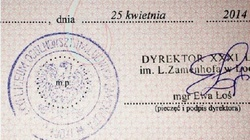 Świadectwo licealne przypieczętowane orłem z...PRL - miniaturka
