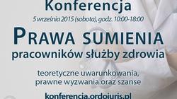 UWAGA! WAŻNA KONFERENCJA pt. Prawa sumienia pracowników służby zdrowia - miniaturka