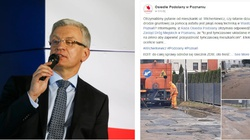 Obaj z PO. Tak Prezydent Poznania Jaśkowiak naprawił miejską drogę... zabraklo taśmy klejącej Trzaskowskiego - miniaturka