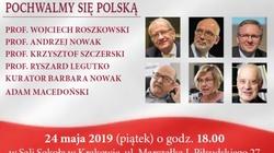Pochwalmy się Polską! Spotkanie z prof. Roszkowskim, prof. A. Nowakiem, prof. Legutko, prof. Szczerskim, Kurator Barbarą Nowak i A. Macedońskim. - miniaturka