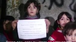 Wstrząsający apel syryjskich dzieci do Rosjan: Wasi piloci zabijają nas! [FILM] - miniaturka