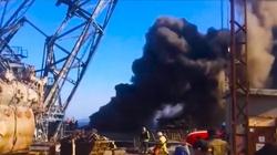 Dobra wiadomość z Rosji: Spłonął duży okręt Floty Północnej - miniaturka