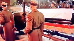 Trumna z ciałem śp. premiera Olszewskiego już w sanktuarium Matki Bożej Łaskawej - miniaturka