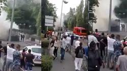 Paryż: Spłonął autobus. Świadkowie mówią o wybuchu [FILM] - miniaturka