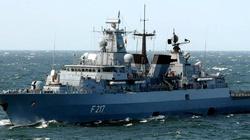 Niemiecki okręt w drodze na Morze Południowochińskie - miniaturka