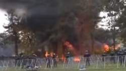 BUNT UCHODŹCÓW. Podpalają namioty, chcą do Niemiec! - miniaturka