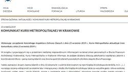 Zwolnienia w Archidiecezji Krakowskiej. Kuria zmienia treść komunikatu - miniaturka