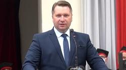 Zdewastowano biuro ministra Czarnka w Lublinie - miniaturka