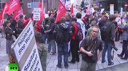 Rosyjska telewizja transmituje demonstracje anty NATO w Warszawie. Prowokatorzy? - miniaturka