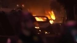 Lider Antify przyszedł na protest z… miotaczem ognia - miniaturka