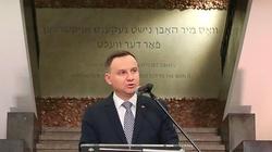 Duda: Naszym obowiązkiem jest głoszenie prawdy o Zagładzie Żydów - miniaturka