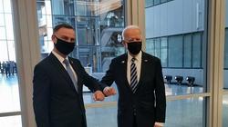 Prezydent Duda spotkał się dzisiaj z prezydentem USA Joe Bidenem podczas szczytu NATO w Brukseli - miniaturka
