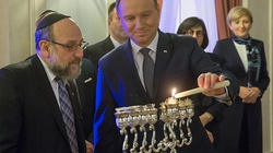 Prezydent Andrzej Duda zapalił świece Chanukowe w Pałacu Prezydenckim! - miniaturka