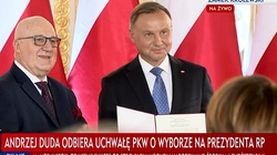 Andrzej Duda odebrał uchwałę PKW o wyborze na prezydenta RP - miniaturka