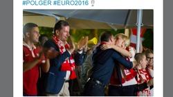 Radość po wczorajszym meczu w wykonaniu Pary Prezydenckiej! - miniaturka