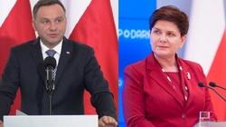 Polacy powszechnie ufają Dudzie i Szydło, nie wierzą Schetynie - miniaturka
