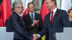 Gauck na spotkaniu z Dudą: Niemcom nie zależy na słabej Polsce, Duda: Trzeba znaleźć obszary wspólnego działania Polski i Niemiec - miniaturka