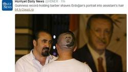 STRASZNE! Portret Erdogana na ogolonej pale!  - miniaturka
