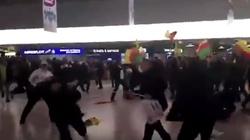 Regularna bitwa imigrantów w Niemczech na lotnisku [FILM] - miniaturka