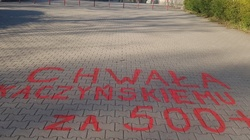 Głos suwerena? Napis 'Chwała Kaczyńskiemu za 500 Plus' w miejskim parku! - miniaturka