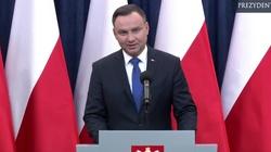 Oświadczenie prezydenta Andrzeja Dudy - WIDEO - miniaturka