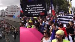 [Wideo] Francja. 200 masowych protestów przeciwko certyfikatom szczepień i segregacji sanitarnej - miniaturka