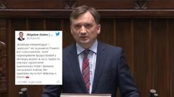 Stanowcza deklaracja Zbigniewa Ziobry: Nie zgadzamy się!!!  - miniaturka