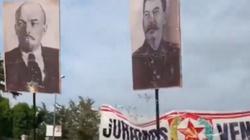 """Komunistyczny pochód ulicami Madrytu. Na transparentach """"Niech żyje Stalin!"""" - miniaturka"""