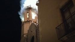 Hiszpania: pożar zabytkowego kościoła - miniaturka
