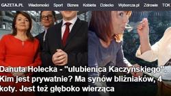 Wyborcza opisuje Holecką: Ulubienica Kaczyńskiego, jest też głęboko wierząca. TO NAPRAWDĘ STRASZNE! - miniaturka