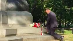 Prezydent złożył kwiaty pod pomnikiem Kościuszki - miniaturka