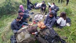 Straż Graniczna udzieliła pomocy 12 emigrantom, którzy utknęli na bagnach. Wśród nich była kobieta z dzieckiem - miniaturka