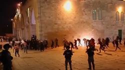 [Wideo] Jerozolima. Bardzo duża eskalacja napięcia. Ponad 300 rannych, w tym policjanci - miniaturka
