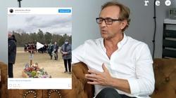 Andrzej Chyra pożegnał ojca. Internauci oburzeni nagraniem z pogrzebu - miniaturka