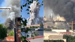 [Wideo] Moskwa. Magazyn materiałów wybuchowych w ogniu. Trwa akcja ratownicza - miniaturka