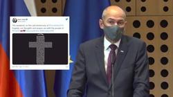 ,,Jesteśmy z Polakami''. Premier Słowenii upamiętnił ofiary Katastrofy Smoleńskiej  - miniaturka