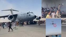 [Wideo] Afganistan. Wstrząsające sceny przy starcie samolotu. Jedna osoba spada z dużej wysokości - miniaturka