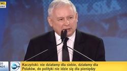Kaczyński na konwencji: Musimy być partią czystych rąk. Nie będzie żadnego zmiłowania... - miniaturka
