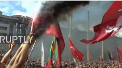 [Wideo] Litwa. Protestujący przeciwko paszportom Covid domagali się dymisji rządu - miniaturka