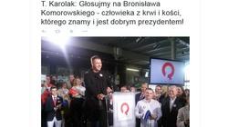 """Tomasz Karolak: """"Komorowski człowiek z kości"""" - nowe hasło prezydenta - miniaturka"""