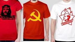 Szok! W polskim sklepie internetowym kupisz koszulki ze Stalinem, Leninem, sierpem i młotem, a nawet Chrystusem ,,socjalistą'' - miniaturka